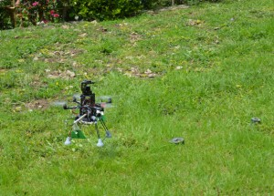 Drone equipped with GPR for landmine detection using SDR technology