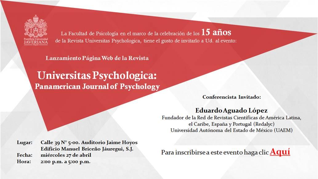 15 años la revista Universitas Psychologica | Pontificia Universidad ...