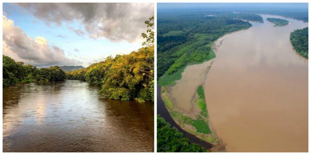 Los ríos Caquetá (izq., foto de Daniela Molano) y Putumayo (der., foto de Álvaro del Campo) surcan y le dan vida a la Amazonía colombiana.