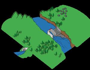 Trasvase: obra hidráulica cuya finalidad es incrementar la disponibilidad de agua en una población adicionando agua desde una cuenca vecina.