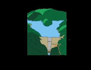 Embalse: acumulación de agua por una construcción en el lecho de un río o arroyo que cierra parcial o totalmente su cauce.