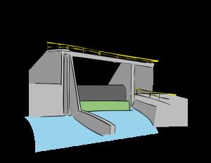 Hidroeléctrica: central que utiliza energía hidráulica para la generación de energía eléctrica. Durante este proceso se hace pasar el agua por una turbina hidráulica que transmite energía a un generador eléctrico, donde se transforma en electricidad.