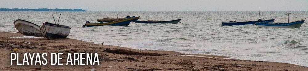 playa de arena en Colombia